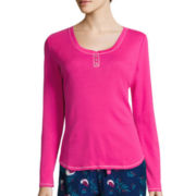 Sleep Chic Long Sleeve Pajama Top