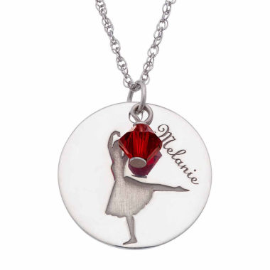 jcpenney.com | Personalized Sterling Silver Crystal Birthstone Ballet Name Pendant Necklace