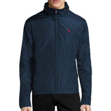 jcpenney.com | U.S. Polo Assn.® Fleece Lined Piped Jacket with Concealed Hood