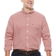 IZOD® The Advantage Long-Sleeve Gingham Shirt