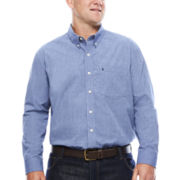 IZOD® Signature Long-Sleeve Cotton Poplin Shirt - Big & Tall