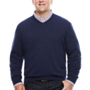 IZOD® Fieldhouse Long-Sleeve V-Neck Sweater - Big & Tall