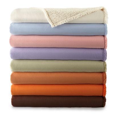 micro flannel sherpaback blanket - Flannel Blanket