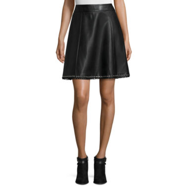 jcpenney.com | Worthington® Faux-Leather Eyelet-Hem Skirt - Tall