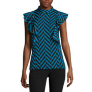 Worthington® Sleeveless Ruffle Top