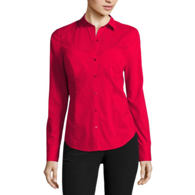 jcpenney.com | Worthington® Long-Sleeve Button-Front Oxford Shirt