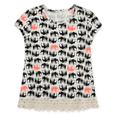 jcpenney.com | Arizona Short-Sleeve Crochet-Trim Top - Toddler Girls 2t-5t