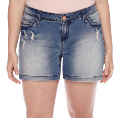 jcpenney.com | YMI® Wanna Betta Butt Shorts - Juniors Plus