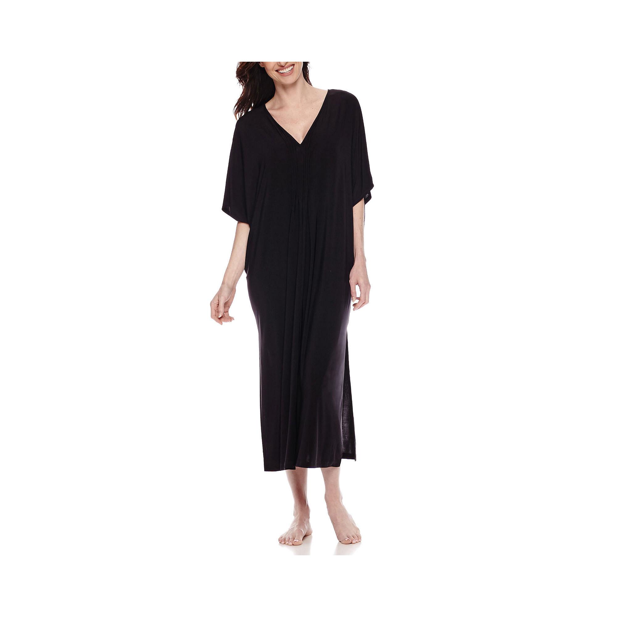Ambrielle Pleated Caftan plus size,  plus size fashion plus size appare