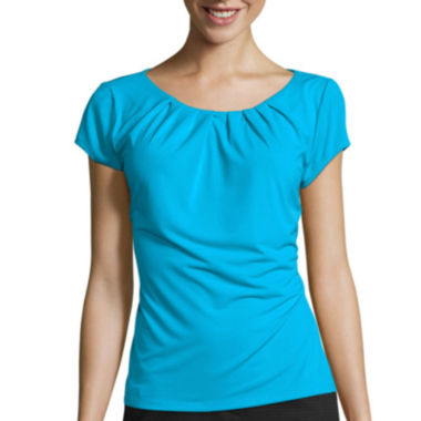 jcpenney.com | Worthington® Short-Sleeve Scoopneck Top - Petites