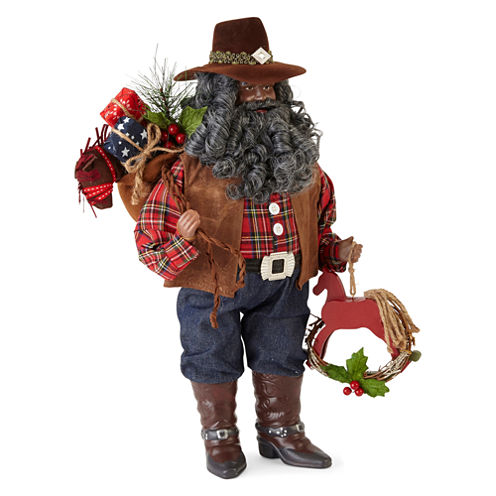 "North Pole Trading Co. 18"" Cowboy Santa"