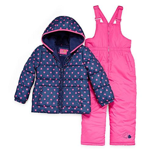 Pink Platinum Heavyweight Snow Suit-Preschool Girls