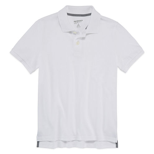 Arizona Short Sleeve Solid Polo Shirt - Boys 8-20 & Husky