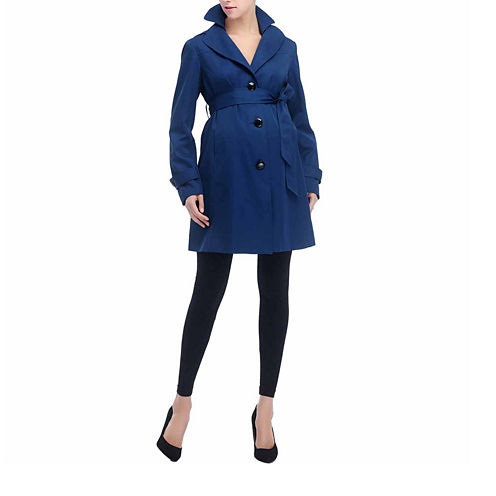 "Glow & Grow Maternity ""Laura"" Double Lapel Trench Coat"