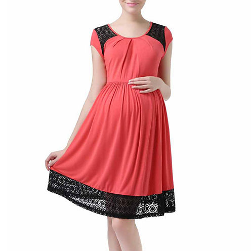 Glow & Grow Maternity Shirred Dress