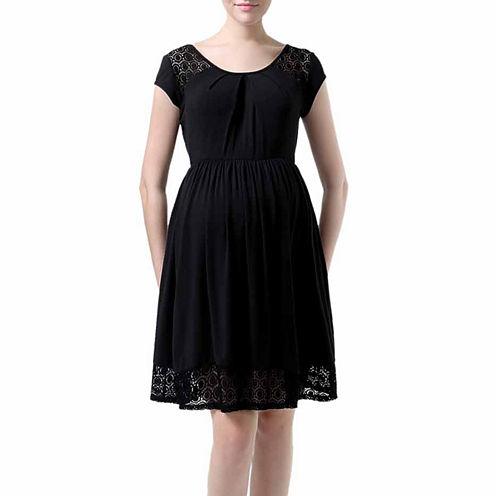Glow & Grow Maternity Shirred Dress