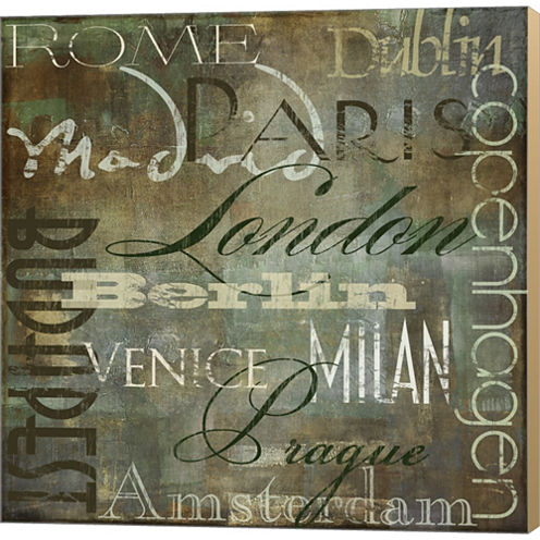 Cities Of The World III Gallery Wrapped Canvas Wall Art On Deep Stretch Bars