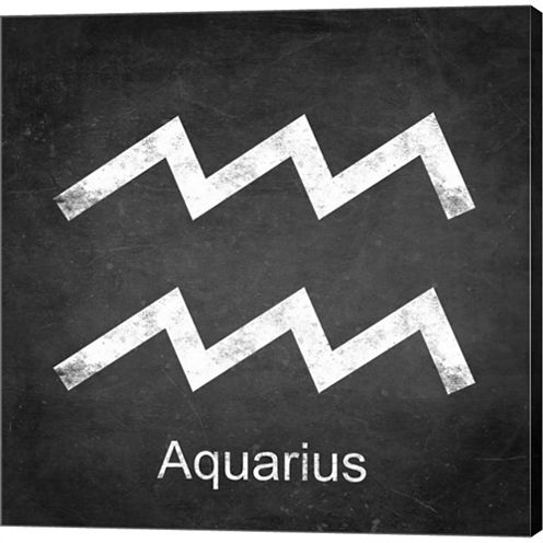 Aquarius Gallery Wrapped Canvas Wall Art On Deep Stretch Bars