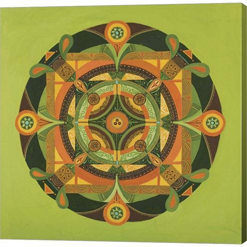 Autumn Mandala Gallery Wrapped Canvas Wall Art OnDeep Stretch Bars