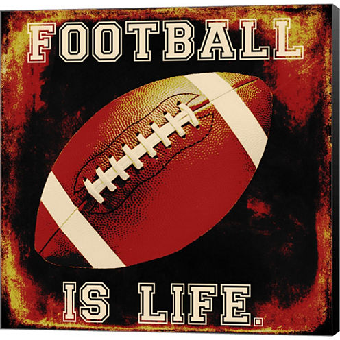 Football II Gallery Wrapped Canvas Wall Art On Deep Stretch Bars