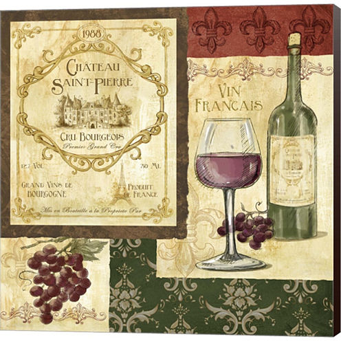 French Wine Patch Gallery Wrapped Canvas Wall ArtOn Deep Stretch Bars
