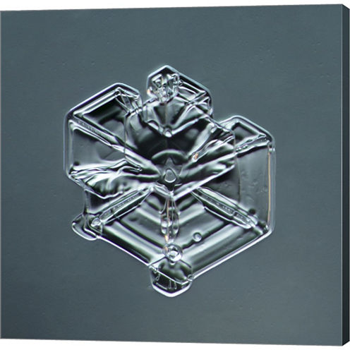 Hexagonal Plate Snowflake 003.2.9.2014.1 Gallery Wrapped Canvas Wall Art On Deep Stretch Bars