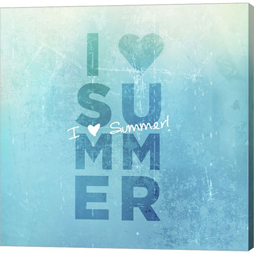 I Heart Summer Gallery Wrapped Canvas Wall Art OnDeep Stretch Bars