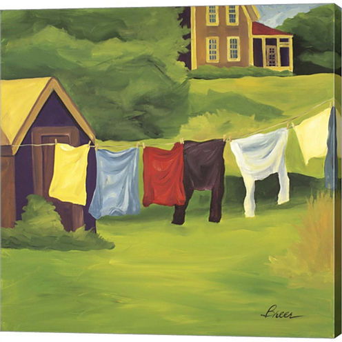 Laundry Monhegan Gallery Wrapped Canvas Wall Art On Deep Stretch Bars