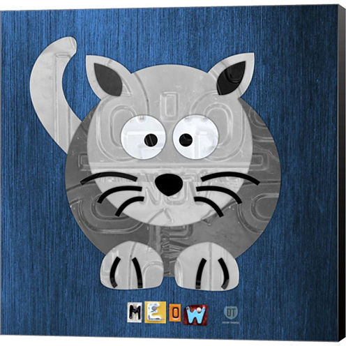 Meow The Cat Gallery Wrapped Canvas Wall Art On Deep Stretch Bars