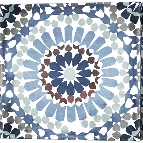 Moroccan Blues IV Gallery Wrapped Canvas Wall ArtOn Deep Stretch Bars
