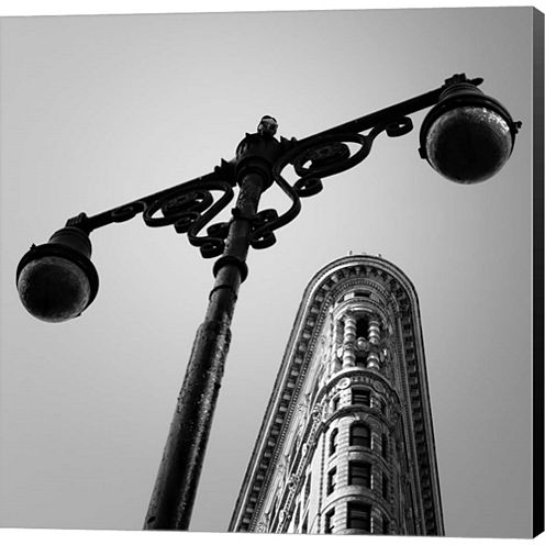NYC Flat Iron Gallery Wrapped Canvas Wall Art On Deep Stretch Bars