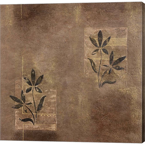 Olive On Grey Gallery Wrapped Canvas Wall Art On Deep Stretch Bars