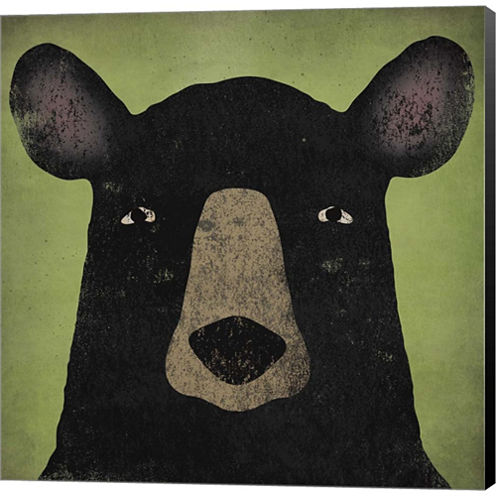 The Black Bear Gallery Wrapped Canvas Wall Art OnDeep Stretch Bars