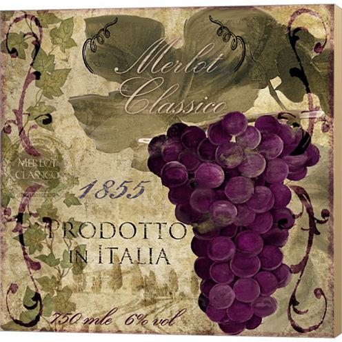 Vino Italiano I Gallery Wrapped Canvas Wall Art OnDeep Stretch Bars