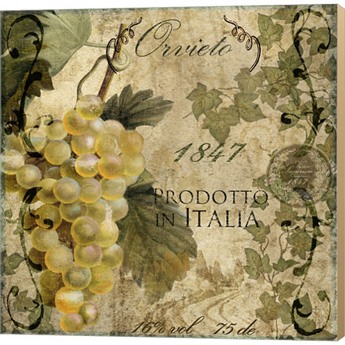 Vino Italiano IV Gallery Wrapped Canvas Wall Art On Deep Stretch Bars
