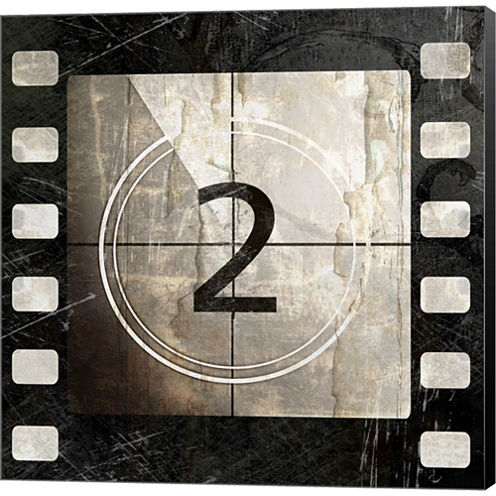 Vintage Countdown II Gallery Wrapped Canvas Wall Art On Deep Stretch Bars
