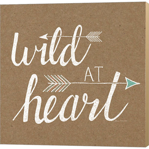 Wild At Heart Gallery Wrapped Canvas Wall Art On Deep Stretch Bars