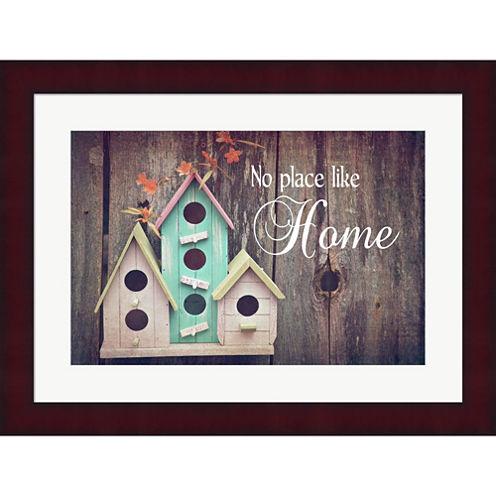 No Place Like Home Bird Houses Framed Print Wall Art