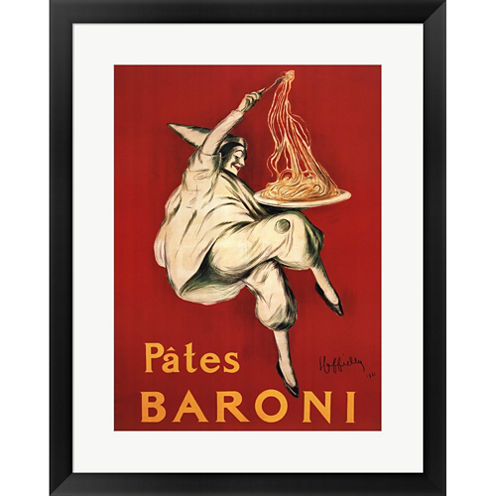 Pates Baroni  1921 Framed Print Wall Art