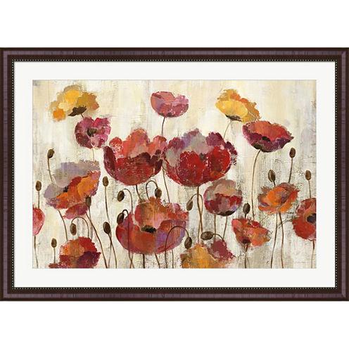 Poppies In The Rain Framed Print Wall Art