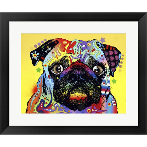 Pug Framed Print Wall Art