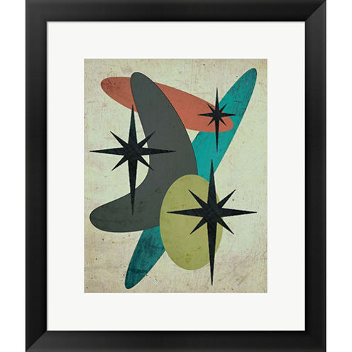 Retro I Framed Print Wall Art
