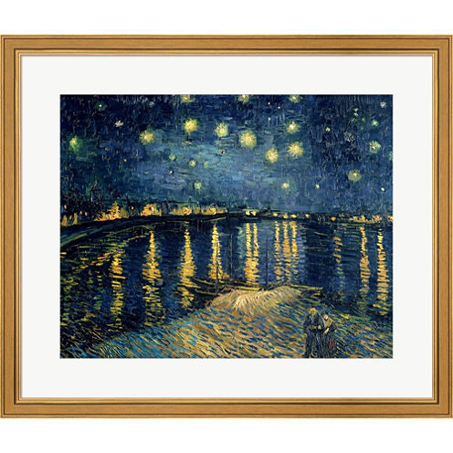 Starry Night Over The Rhone  C 1888 Framed Print Wall Art