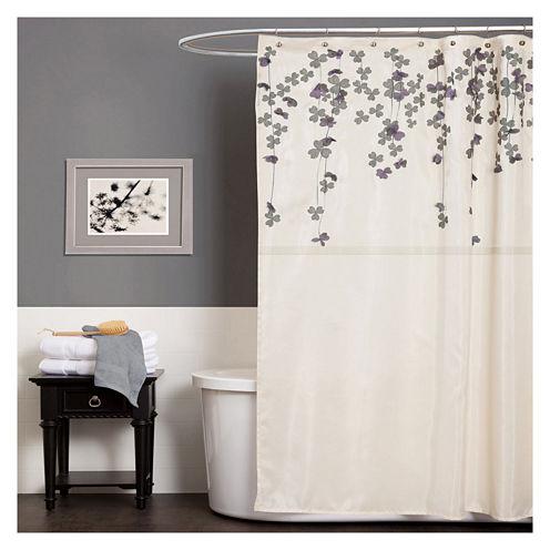 Lush Décor Flower Drops Shower Curtain