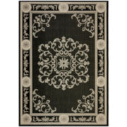 Courtyard Medallion Delight Indoor/Outdoor Rectangular Rugs