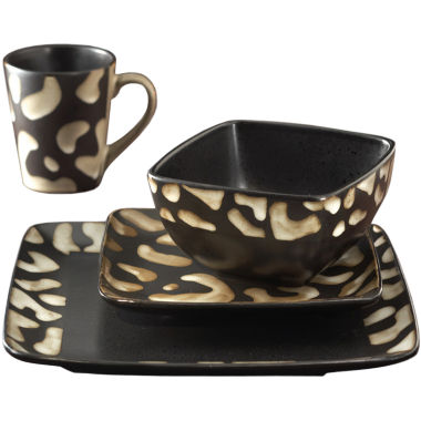 jcpenney.com | Safari Giraffe 16-pc. Dinnerware Set