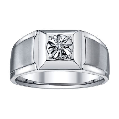 jcpenney.com | Mens Diamond Accent Stainless Steel Ring