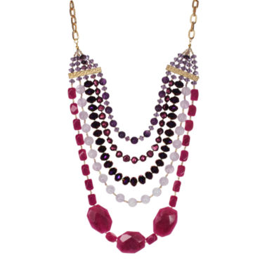 jcpenney.com | ROX by Alexa Purple & Pink Gemstone Multi-Chain Necklace