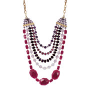 ROX by Alexa Purple & Pink Gemstone Multi-Chain Necklace