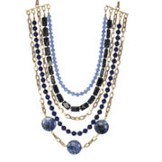 ROX by Alexa Blue Gemstone Multi-Chain Necklace